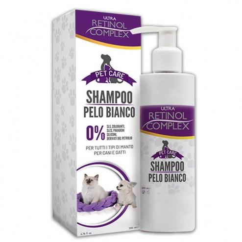RETINOL COMPLEX Pet Care Shampoo Pelo Bianco per Cani e Gatti