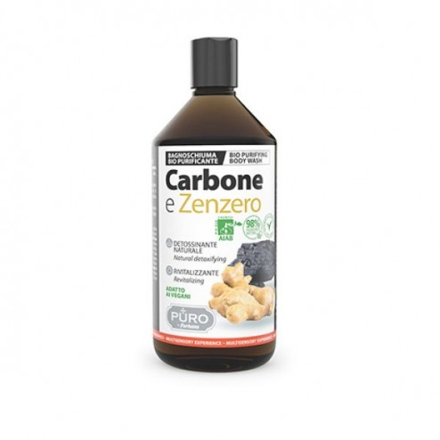 Bagnoschiuma Bio Carbone e Zenzero PURO by FORHANS