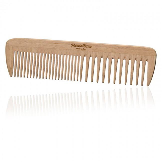 Pettine in legno doppia dentatura